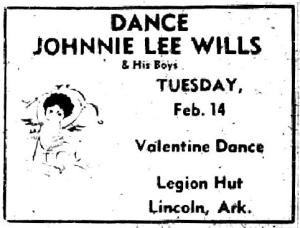 Johnnie Lee Wills ad