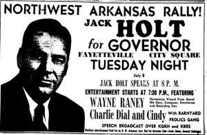 Jack Holt - Wayne Raney ad 1952