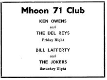 Ken Owens and the Del Reys Mhoon 71 ad