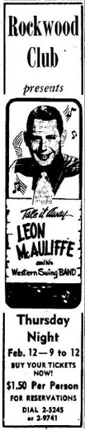 Rockwood Club - Leon McAuliffe